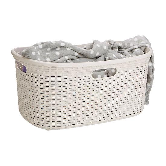 Mind Reader 40 Liter Laundry Basket, Storage Basket, Bathroom, Bedroom, Home