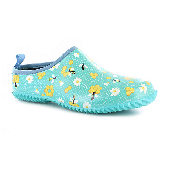 Western Chief Womens Bloom Bees Clogs Round Toe