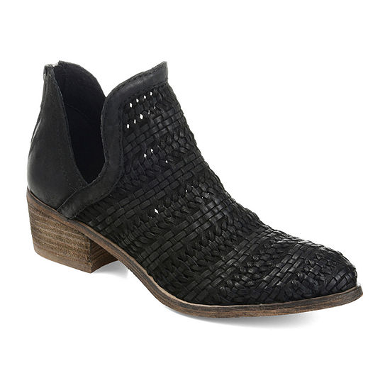 Journee Signature Womens Dakota Stacked Heel Zip  Booties