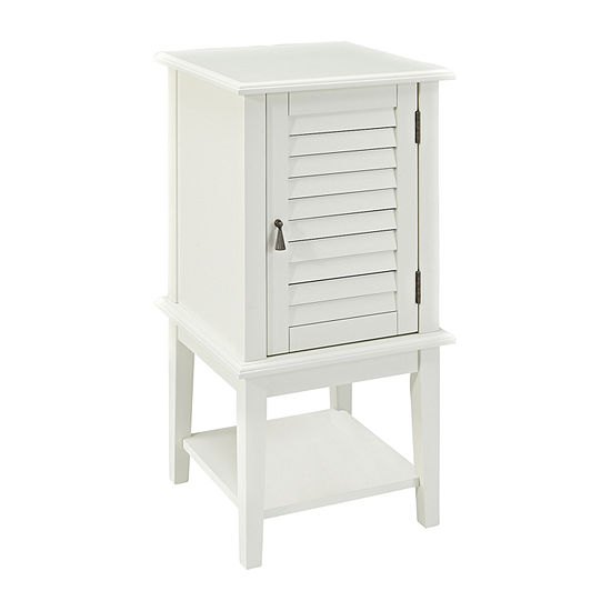 L. Powell Co. Shutter Door Table Storage Chairside Table