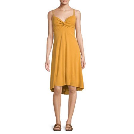 Bleecker 126 Sleeveless High-Low Fit & Flare Dress, 14 , Yellow