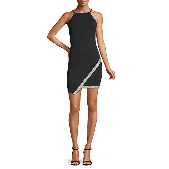 Byer California-Juniors Sleeveless Embellished Bodycon Dress