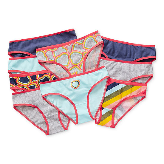 Arizona Little & Big Girls 9 Pack Bikini Panty