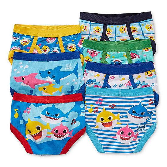 Toddler Boys 7 Pack Baby Shark Briefs