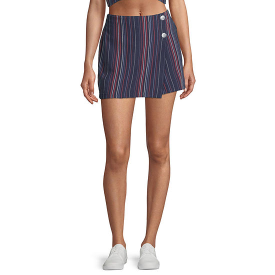 Arizona Womens Mid Rise Skort-Juniors