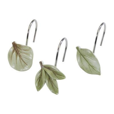 Avanti Ombre Leaves Shower Curtain Hooks