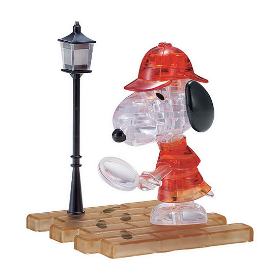 Bepuzzled 3d Crystal Puzzle - Detective Snoopy 34 Pcs