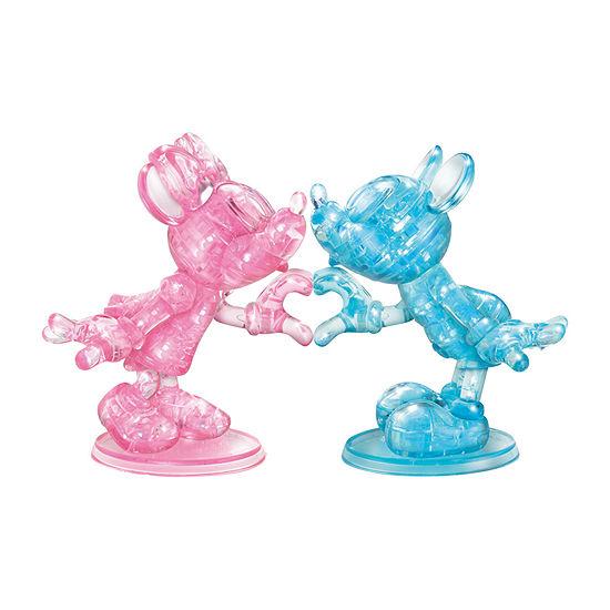 Bepuzzled 3d Crystal Puzzle - Disney Minnie & Mickey 68 Pcs