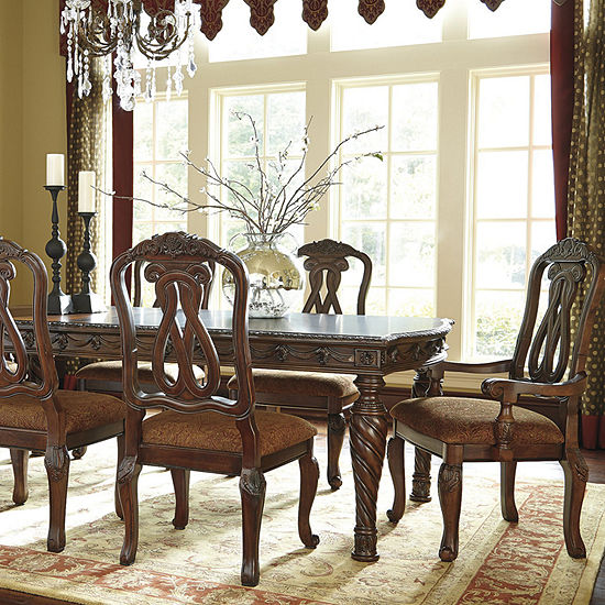 Signature Design by Ashley® North Shore 7-Piece Rectangular Dining