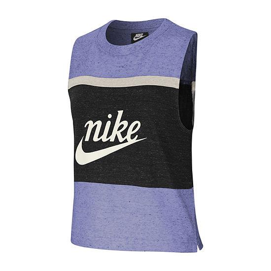 Nike Womens Crew Neck Sleeveless Tank Top