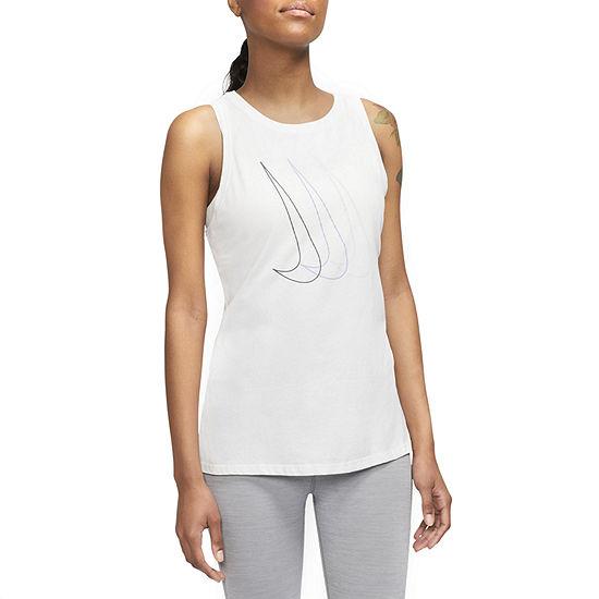 Nike Womens Round Neck Sleeveless Tank Top