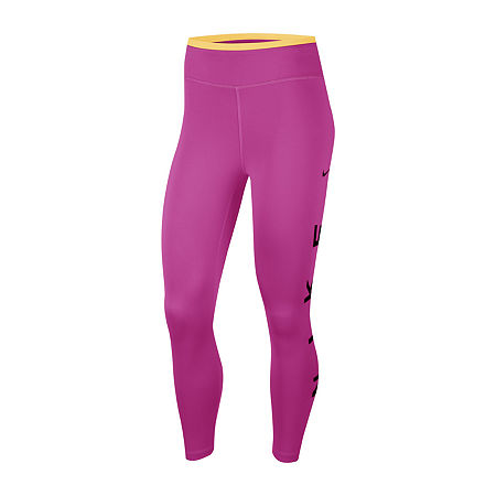 Nike Womens Full Length Leggings, Medium , Pink
