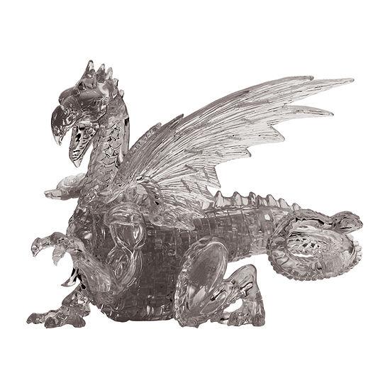 Bepuzzled 3d Crystal Puzzle - Dragon Black 56 Pcs