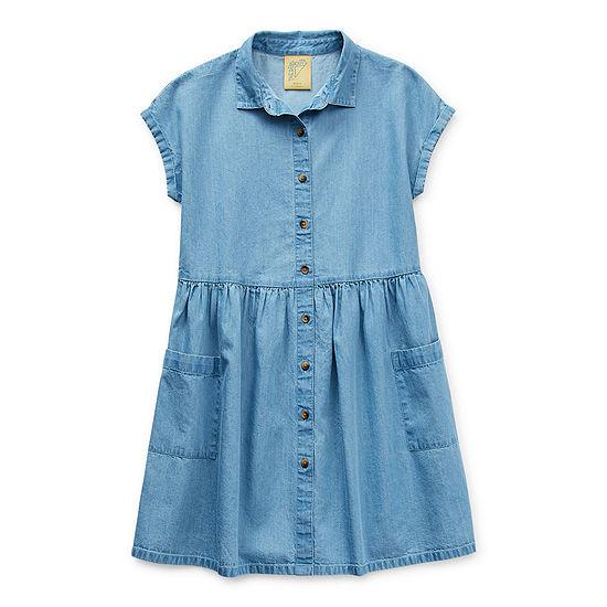 Thereabouts Little & Big Girls Short Sleeve Shirt Dress