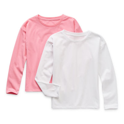 Thereabouts Little & Big Girls 2-pc. Crew Neck Long Sleeve T-Shirt