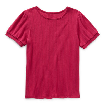 Thereabouts Little & Big Girls Round Neck Short Sleeve T-Shirt