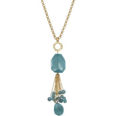 Bijoux Bar Womens Blue Pendant Necklace
