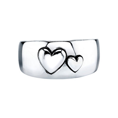 Inspired Moments™ Sterling Silver Double Heart Ring