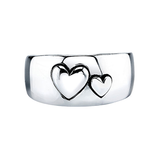 Inspired Moments Sterling Silver Double Heart Ring