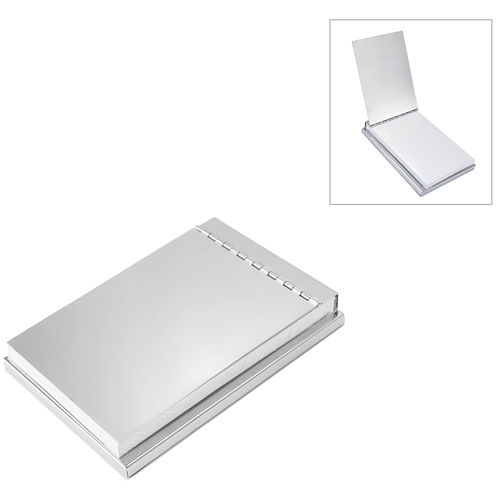 Natico Silver Polished Notepad Holder
