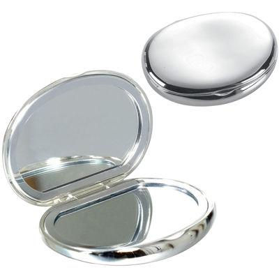 Natico Silver Polished Compact Mirror