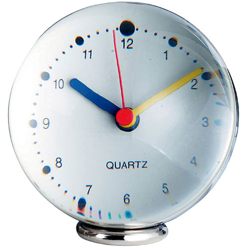 Natico Plexiglas Analog Sphere Desk Clock