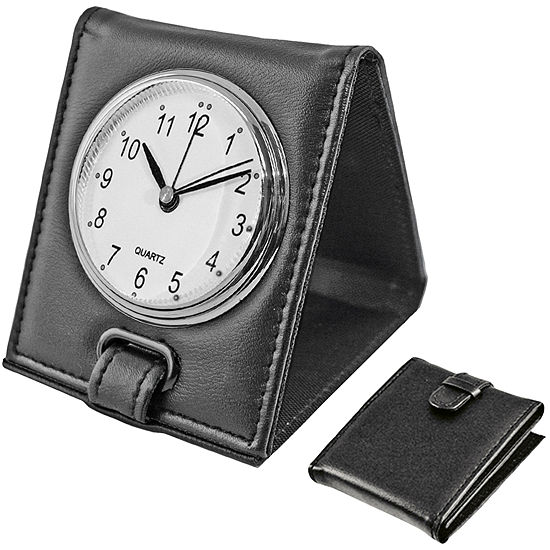 Natico Faux Leather Travel Alarm Clock