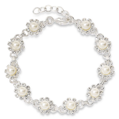 Vieste Rosa Silver Tone Link Bracelet