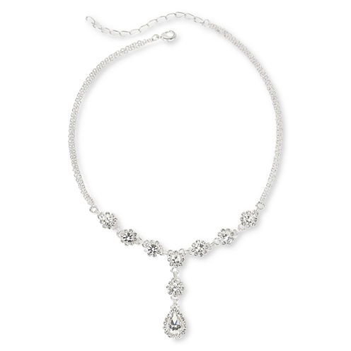 Vieste® Crystal Y Necklace