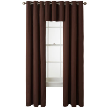 jcpenney.com | JCPenney Home™ Jenner Cotton Grommet-Top Window Treatments