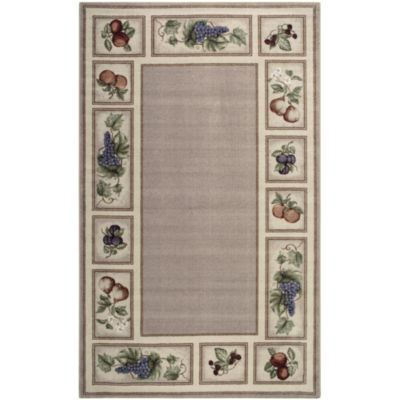 Fresh Fruit Washable Rectangular Area Rug