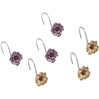 Queen Street® Carlyon Floral Shower Curtain Hooks