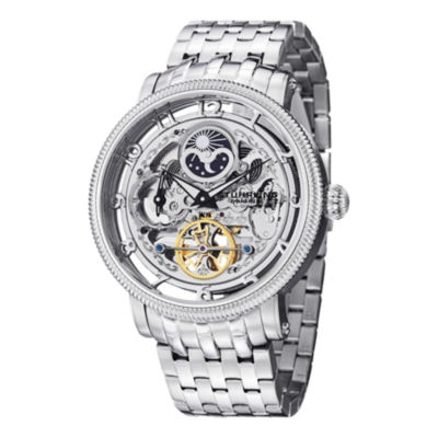 Stuhrling Mens Silver Tone Bracelet Watch-Sp14547