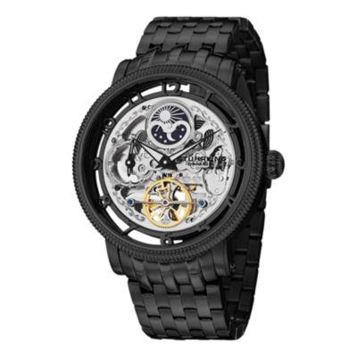 Stuhrling Mens Black Bracelet Watch-Sp14548