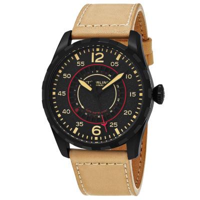 Stuhrling Mens Brown Strap Watch-Sp16248
