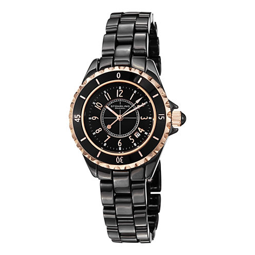 Stuhrling Womens Black Bracelet Watch-Sp12494