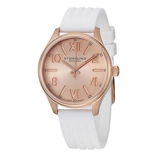 Stuhrling Womens White Strap Watch-Sp14579