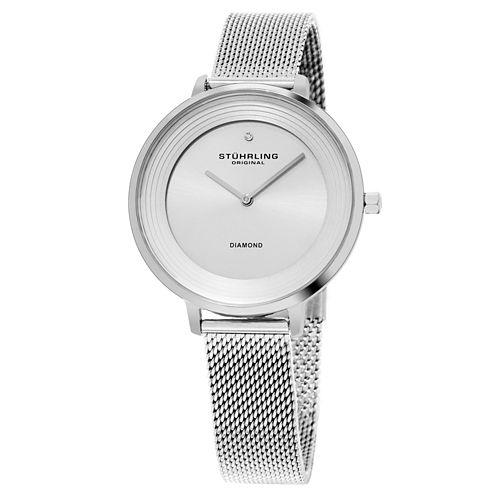 Stuhrling Womens Silver Tone Strap Watch-Sp15761