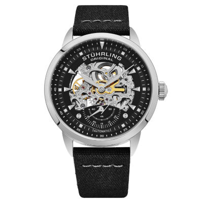 Stuhrling Mens Brown Strap Watch-Sp16488
