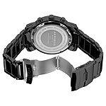 Akribos XXIV Mens Black Stainless Steel Strap Watch-A-439bk