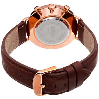 August Steiner Mens Brown Strap Watch-As-8212rgb