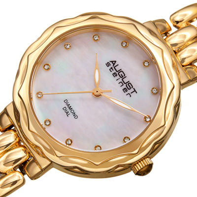 August Steiner Womens Gold Tone Strap Watch-As-8248yg