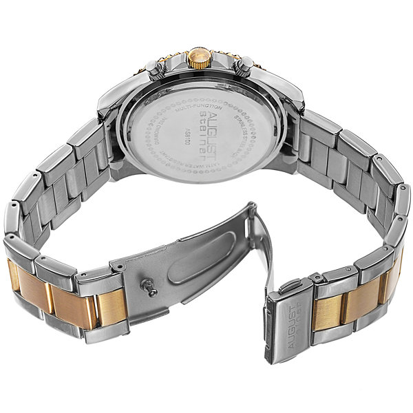 August Steiner Womens Two Tone Strap Watch-As-8100ttg