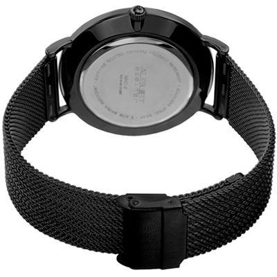 August Steiner Mens Black Strap Watch-As-8218bk