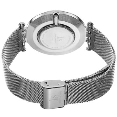 Joshua & Sons Mens Silver Tone Bracelet Watch-J-90bu
