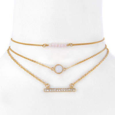 Decree Womens 3-pc. Clear Necklace Set
