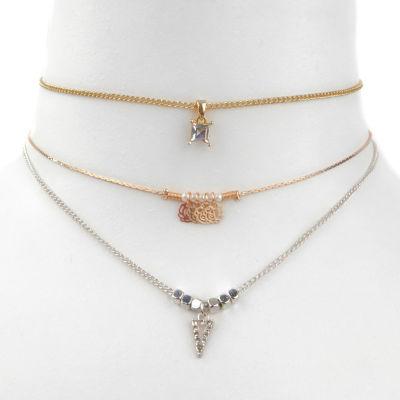 Decree Womens 3-pc. Clear Necklace Set