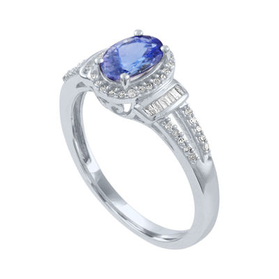Womens 1/6 CT. T.W. Purple Tanzanite 10K Gold Cocktail Ring