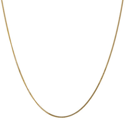 14K Gold 20 Inch Solid Curb Chain Necklace