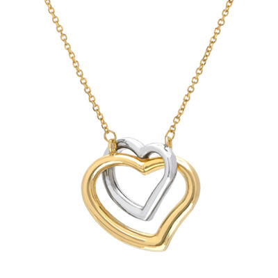 Womens 14K Two Tone Gold Pendant Necklace